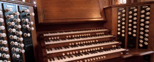 English organ building keyboard