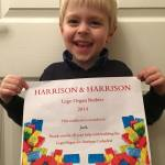 Jack with his certificate