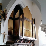 side view of organ