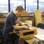 Andrew Fiddes working on the wind trunks