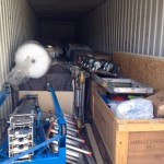 inside the container