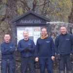 The team: left to right, David Parsons, Ian Gibson, Jaroslav Strazovsky (Team Leader) and Lee Berriman