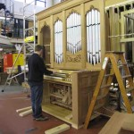 Working on the organ