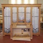 front view of the organ