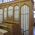 Pipework added to the organ