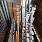 A complete range of pipework, from mixtures on the left, to the Solo tuba on the right.