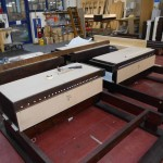 Choir and Pedal soundboards being fitted (2)
