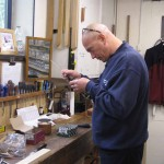 Craig working on the drawstop solenoids