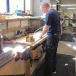 Ian GIbson working on the motors