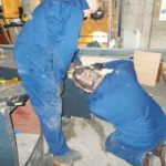John Oliver & Geoff Pollard extending 32ft Open Wood in Cathedral
