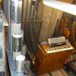 regulating the Great pipework with portable tuning keyboard