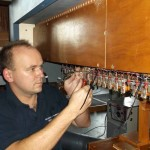 Jaroslav Strazovsky soldering cable to swell action