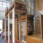 rear of the organ