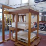 erecting organ in workshop