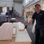 sanding upper boards