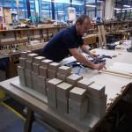 Wooden pipe blocks