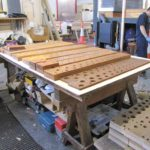 Cheltenham College bottom boards being made