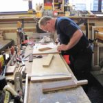 David working on the Pedal Bourdon chest