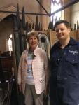 Organist Emeritus Shirley Gale in conversation with Kelvin