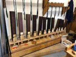 Top of the 8ft Octave Wood on the voicing machine