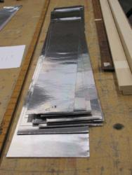 metal ready for forming into Clarinet pipe