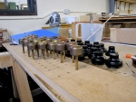 foot pistons waiting to be refurbished