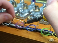 soldering wire connections to soundboard actions