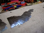 Great Clarion metal cut ready to be formed