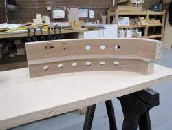 Michael sanding console parts
