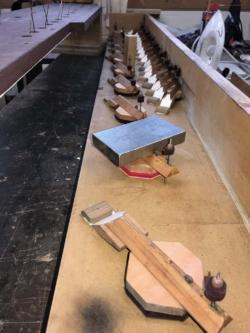 Selective pepallating of Pedal Bourdon Unit Chest