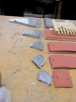 Metal cut ready to be formed into the Clarinet