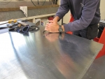 cutting metal for front pipes