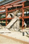 Stairs being built