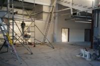 interior walls being erected
