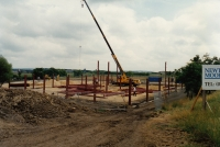 framework being erected