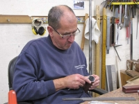 Les working on the  Pedal Ophicleide