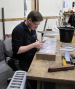 cleaning and sorting the feet of the  Lieblich Flute