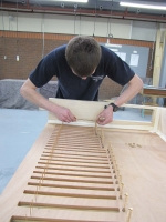 Canterbury working on the Swell Flute 8 stop chest