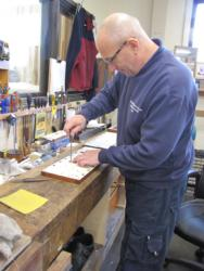 Craig working on the stop jambs